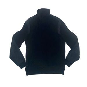 Calvin Klein black form fitting collard sweater